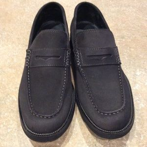 BOSTONIAN BROWN SUEDE PENNY LOAFER